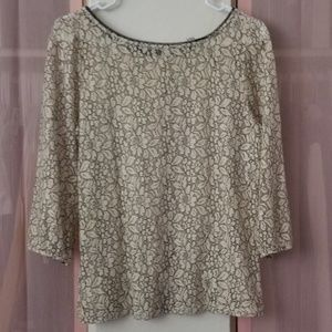 LOFT 3/4-sleeve lace top